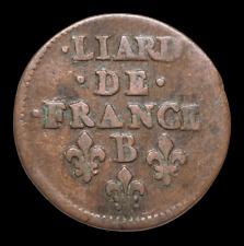 "FRANCE. Louis XIV ""The Sun King"". Liard, Dated 1656, Rouen"