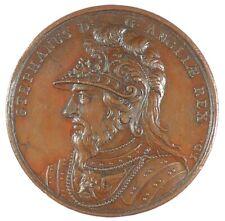 England KING STEPHEN MEMORIAL - DASSIER'S MEDAL bronze 41mm early striking