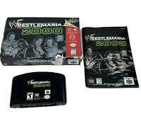 WWF WrestleMania 2000 N64 (Nintendo 64, 1999) Complete Tested Works 0972