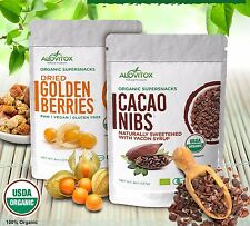 GOLDEN BERRIES CACAO NIBS 16 oz All Natural Organic Raw Energy Food Alovitox