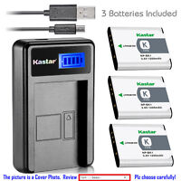 Kastar Battery LCD Charger for Sony NP-BK1 NPBK1 & Sony Webbie MHS-PM1 Camera