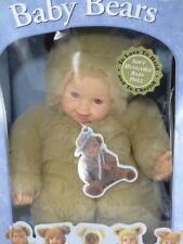 "Anne Geddes Baby Bears Light Brown Teddy Bear Baby Doll 15"""