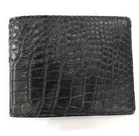 Black Genuine Crocodile Alligator Skin Leather Men's Credit Card Holder Wallet