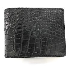 Black Genuine Crocodile Alligator Skin Leather Men's Credit Card Holder Wallet