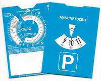 50 x Parkscheiben Parkuhr mit Benzinrechner neutral ohne Werbung parking disc