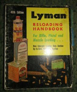 1970 Lyman Reloading Handbook 45th Edition - Book