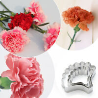 KQ_ FP- BL_ BU_ KE_ CO_ 3Pcs Carnation Flower Petal Fondant Mold Biscuit Cookie