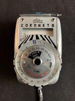 Vintage Walz Coronet B Deluxe ASA Standard Exposure Meter w/ Case & Original Box