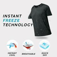 Men Crew Neck Short Sleeve Ice Silk Quick Dry T-shirt  Summer Breathable-Tops