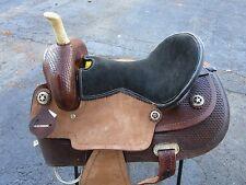 USED 16 BARREL RACING PLEASURE SHOW TOOLED LEATHER HORSE WESTERN SADDLE TACK
