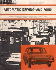 Ford Cortina Corsair Zephyr Zodiac Automatic 1964 UK Market Foldout Brochure