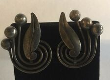 Vintage Signed V.A. Mexico Sterling Silver 925 Earrings TAXCO