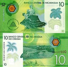 NICARAGUA 10 Cordobas Banknote World Paper Money UNC Currency PICK p210 Bill