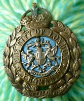 WWI The City of London Yeomanry Rough Riders Cap Badge KC Bi-Metal ANTIQUE Org