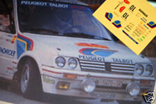 DECAL CALCA 1/43 PEUGEOT 205 GTI B. MORATAL RALLY CATALUNYA 1986