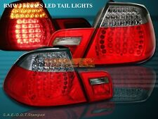 00 -03 BMW E46 CONVERTIBLE LED TAIL LIGHTS LAMPS RED SMOKE 01 02