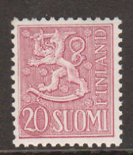 Finland Sc 319 MNH. 1954 20m rose lilac Lion of Finland