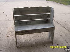"""36"""" WOODEN BENCH WITH BACK,  HANDMADE DIFFERANT SIZES"""