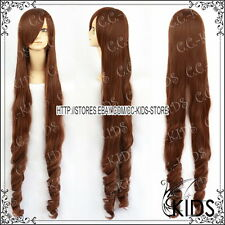 Rozen Maiden Suiseiseki Cosplay wig cosume Brown colour 130CM long ver