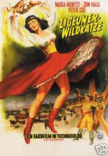 Gypsy wild cat Maria Montez vintage movie poster print