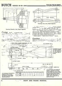 1940 Buick Series 80 90 NOS Frame Dimensions Align Spec