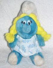 "Vintage 1981 SMURFETTE 8"" PLUSH Stuffed Toy Doll Wallace Berrie PEYO Smurfs"