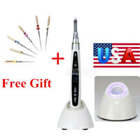 Dental Wireless 16:1 Reduction Contra Angle LED Mini Endo Motor Treatment + GIFT