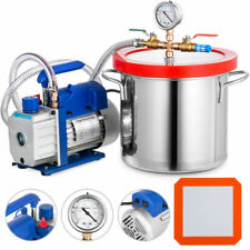 VEVOR 2 Gallon Chamber Kit With Vacuum Pump Degassing Tools Controlled - 3cfm