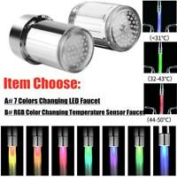 LED Water Stream Faucet Light 7 Colors Changing Glow Shower Stream Tap Sink Tap