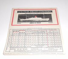 Vintage 1932 United Fruit Company Ship Boat Bridge Scorer Full Pad Playing Cards