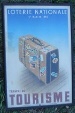 -Affiche 1940 Loterie Tourisme Bagages Voyage Valise décoration
