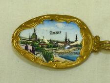 Vintage Old Dresden Germany Enamel Bowl & Coat of Arms Ornate Souvenir Spoon
