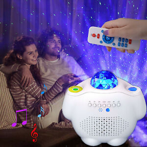LED Galaxy Projector Night Light Star Party Lamp Starry Laser Speaker Lights New