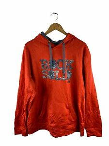 VINTAGE The North Face Pullover Hoodie Mens Size XL Orange Long Sleeve Pocket