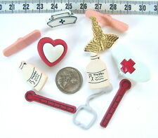 Novelty Buttons Embellishments Doctor Nurse Hospital Medical Chemist #10