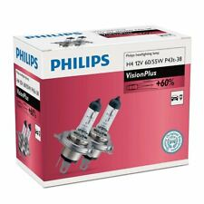 Philips Vision Plus H4 Car Headlight Bulb 12342VPC2 (Twin)