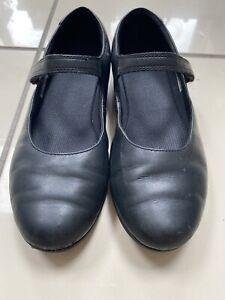 Clarks Girls Black Sz 5.5H School Shoes