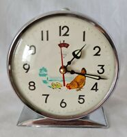 Alarm Clock Animated Pecking Chicken Vintage Wind Up China Shanghai