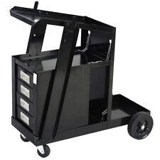 Welding Cart Workshop Equipment 4 Drawer Tank Storage for MIG TIG Plasma Welder