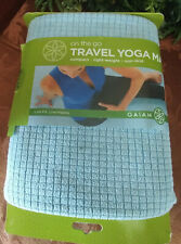 "Gaiam No Slip Yoga Towel Green New 24"" X 68"" Microfiber with Natural Rubber Back"