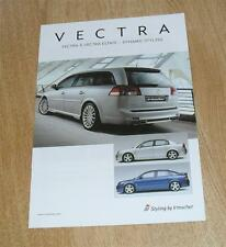 Vauxhall Vectra C Berline Hayon Estate IRMSCHER syyling Accessoires Brochure