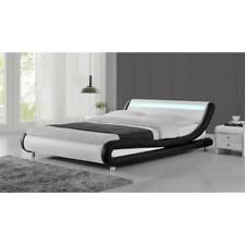 Kingway Furniture Mint Platform Queen Bed in Black/White