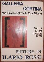 MANIFESTO POSTER ILARIO ROSSI BOLOGNA 1970 FIRMATO FIRMA AUTOGRAFO MOSTRA