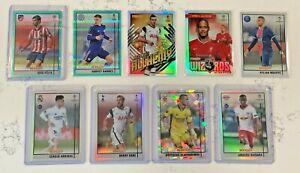 20-21 Topps Chrome Merlin Lot Kane Silver Felix Aqua Ice Mbappe Soccer Cards
