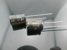 10pcs 47uF 50V ELNA TONEREX ROB for audio HiFi electrolytic capacitor BLACK JP