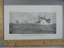 Rare Antique Original VTG 1901 US Submarine Torpedo Boat Illustration Art Print