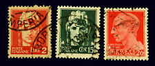 1929  Italian stamps / Serie Imperiale / Red and Green  Stamps   ,  Used