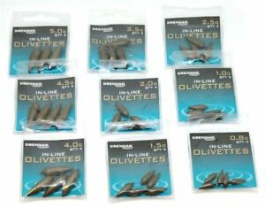 Drennan In Line Olivettes *All Sizes* NEW Coarse Fishing Olivette Weights