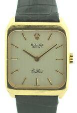 ROLEX Cellini 4131 18K Yellow Gold Black Alligator Strap Luxury Women's Watch
