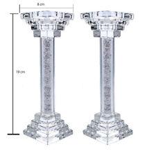 Set of 2 Swarovski Crystal Filled Candle stick, Tea Light Holders Wedding Annive